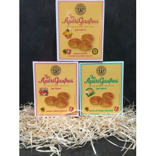 Pack aperigaufres fines 3 saveurs 85g